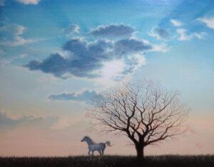 空の絵 アクリル画 風景画 美術家 画家 アーティスト