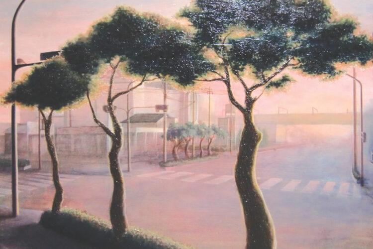 アクリル画 風景画 絵画 美術 アート