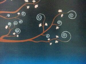 アクリル画 植物画 桜の絵 絵画 美術 アート