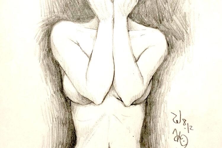 イラスト 女の子イラスト ラフスケッチ 習作 美術 アート 絵