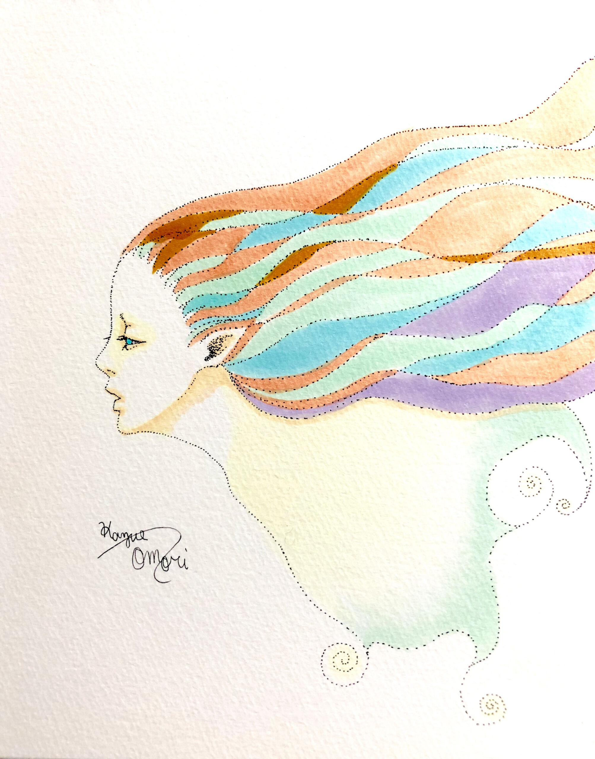 イラスト 女の子イラスト コピック 絵 美術 アート