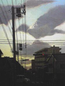 油彩画 風景画 絵画 美術 アート 空の絵