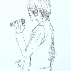 男の子イラスト イラスト 弟 カラオケ クロッキー 絵 美術 アート