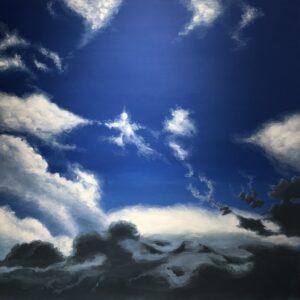 アクリル画 風景画 空の絵 デッサン アート 絵画 美術