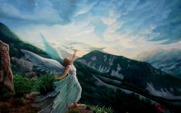 アクリル画 風景画 人物画 絵画 美術 アート