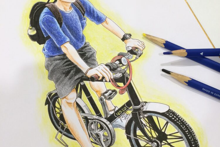 イラスト 男の子イラスト 色紙 色鉛筆 絵 美術 アート