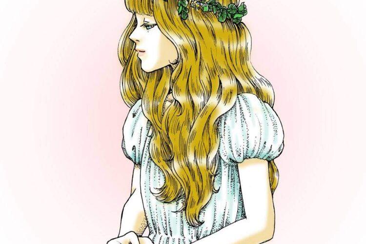 女の子イラスト 線画 点描 横顔 大森和枝 アート イラスト