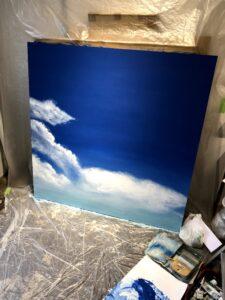 空の絵 グラデーション 絵画 アクリル画 画家 美術
