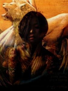 大森和枝 絵画 写真 art アート タロットシリーズ ライオン スフィンクス