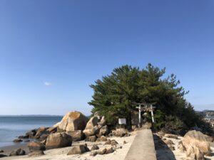 箱島神社 糸島 海 アート