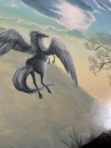 ペガザス 動物画 アクリル画 馬